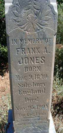 JONES, FRANK ALBERT - Utah County, Utah   FRANK ALBERT JONES - Utah Gravestone Photos