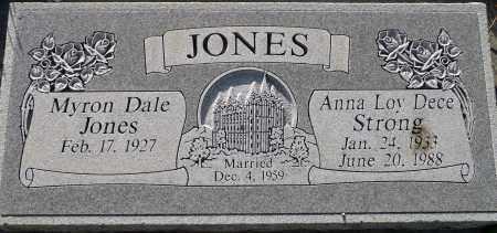 JONES, MYRON DALE - Utah County, Utah | MYRON DALE JONES - Utah Gravestone Photos