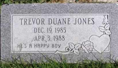 JONES, TREVOR DUANE - Utah County, Utah | TREVOR DUANE JONES - Utah Gravestone Photos