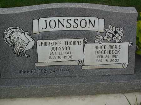 JONSSON, LAWRENCE THOMAS - Utah County, Utah | LAWRENCE THOMAS JONSSON - Utah Gravestone Photos