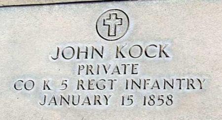 KOCK (SERV), JOHN - Utah County, Utah | JOHN KOCK (SERV) - Utah Gravestone Photos