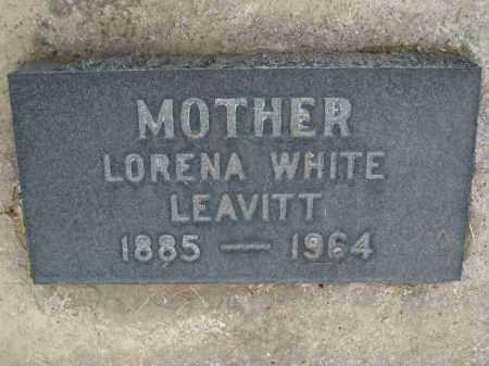WHITE LEAVITT, LORENA ADDIE - Utah County, Utah | LORENA ADDIE WHITE LEAVITT - Utah Gravestone Photos