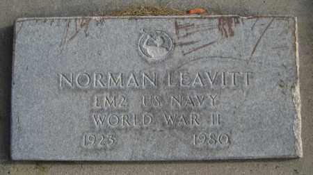 LEAVITT, NORMAN - Utah County, Utah   NORMAN LEAVITT - Utah Gravestone Photos
