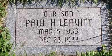 LEAVITT, PAUL H - Utah County, Utah | PAUL H LEAVITT - Utah Gravestone Photos