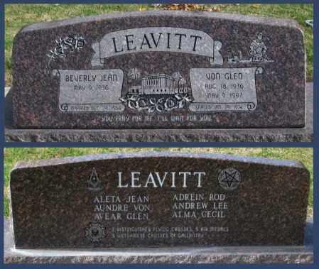 LEAVITT, VON GLEN - Utah County, Utah | VON GLEN LEAVITT - Utah Gravestone Photos