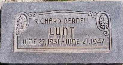 LUNT, RICHARD BERNELL - Utah County, Utah   RICHARD BERNELL LUNT - Utah Gravestone Photos
