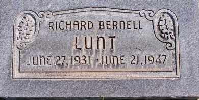 LUNT, RICHARD BERNELL - Utah County, Utah | RICHARD BERNELL LUNT - Utah Gravestone Photos