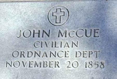MCCUE (SERV), JOHN - Utah County, Utah   JOHN MCCUE (SERV) - Utah Gravestone Photos
