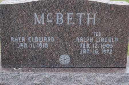CLOWARD MCBETH, RHEA - Utah County, Utah | RHEA CLOWARD MCBETH - Utah Gravestone Photos