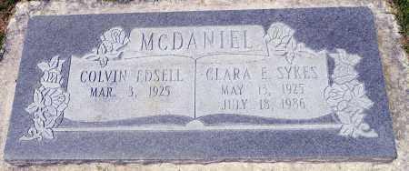 MCDANIEL, COLVIN EDSELL - Utah County, Utah | COLVIN EDSELL MCDANIEL - Utah Gravestone Photos