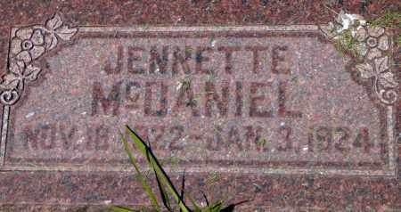 MCDANIEL, JENNETTE - Utah County, Utah | JENNETTE MCDANIEL - Utah Gravestone Photos