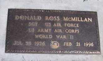 MCMILLAN (WWII), DONALD ROSS - Utah County, Utah | DONALD ROSS MCMILLAN (WWII) - Utah Gravestone Photos