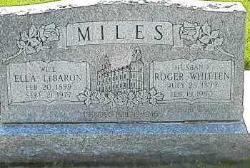 LEBARON MILES, ELLA - Utah County, Utah | ELLA LEBARON MILES - Utah Gravestone Photos