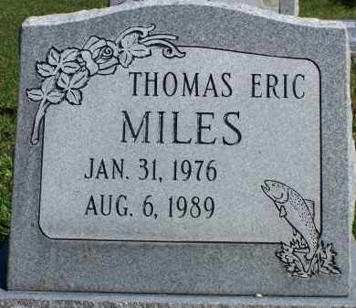 MILES, THOMAS ERIC - Utah County, Utah   THOMAS ERIC MILES - Utah Gravestone Photos