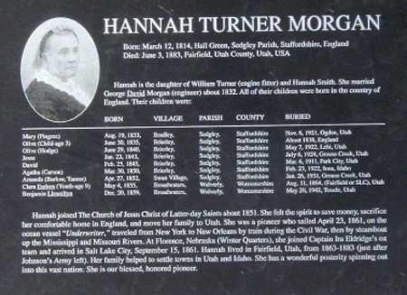 MORGAN, HANNAH - Utah County, Utah | HANNAH MORGAN - Utah Gravestone Photos