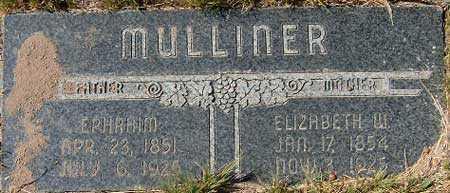 WALTERS MULLINER, ELIZABETH - Utah County, Utah | ELIZABETH WALTERS MULLINER - Utah Gravestone Photos