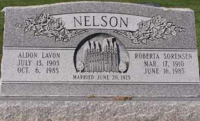 NELSON, ALDON LAVON - Utah County, Utah | ALDON LAVON NELSON - Utah Gravestone Photos