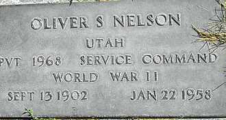 NELSON, OLIVER S - Utah County, Utah | OLIVER S NELSON - Utah Gravestone Photos
