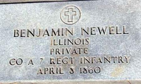 NEWELL (SERV), BENJAMIN F. - Utah County, Utah | BENJAMIN F. NEWELL (SERV) - Utah Gravestone Photos