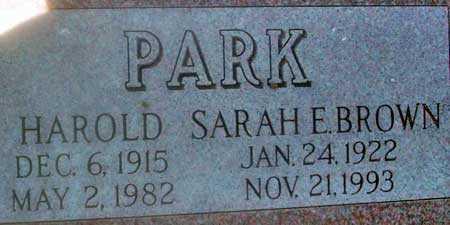 BROWN PARK, SARAH E. - Utah County, Utah | SARAH E. BROWN PARK - Utah Gravestone Photos