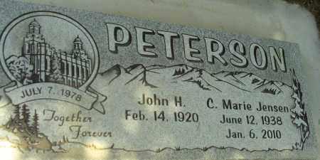 JENSEN PETERSON, C. MARIE - Utah County, Utah | C. MARIE JENSEN PETERSON - Utah Gravestone Photos
