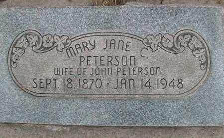 PETERSON, MARY JANE - Utah County, Utah | MARY JANE PETERSON - Utah Gravestone Photos