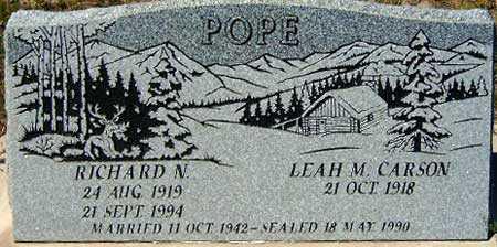 POPE, RICHARD NORMAN - Utah County, Utah | RICHARD NORMAN POPE - Utah Gravestone Photos