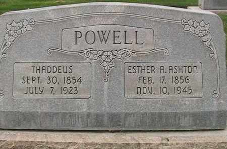 ASHTON POWELL, ESTHER ANN - Utah County, Utah | ESTHER ANN ASHTON POWELL - Utah Gravestone Photos