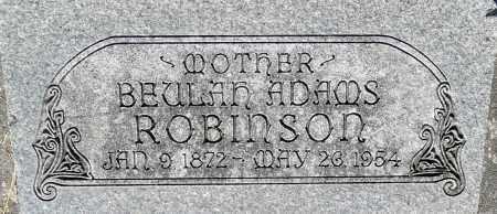 ADAMS ROBINSON, BEULAH - Utah County, Utah | BEULAH ADAMS ROBINSON - Utah Gravestone Photos