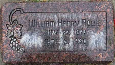 ROLFE, WILLIAM HENRY - Utah County, Utah | WILLIAM HENRY ROLFE - Utah Gravestone Photos