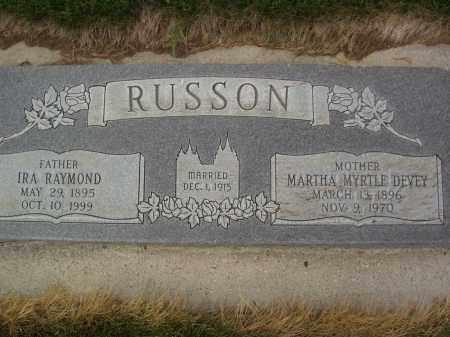 RUSSON, IRA RAYMOND - Utah County, Utah | IRA RAYMOND RUSSON - Utah Gravestone Photos
