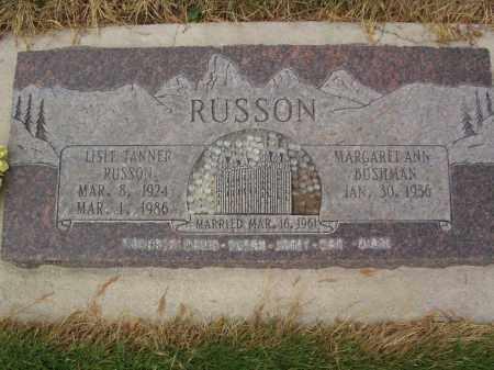 RUSSON, LISLE TANNER - Utah County, Utah | LISLE TANNER RUSSON - Utah Gravestone Photos