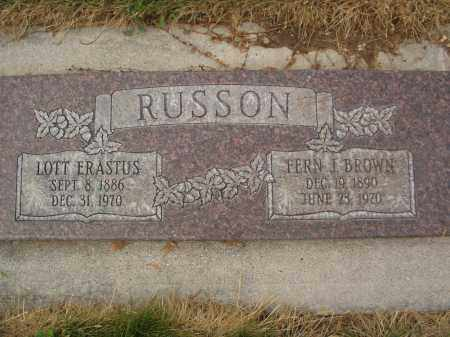 RUSSON, FERN J. - Utah County, Utah | FERN J. RUSSON - Utah Gravestone Photos