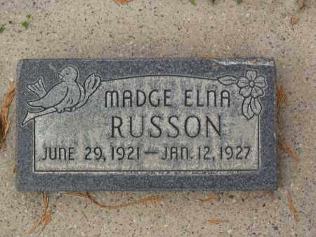 RUSSON, MADGE ELNA - Utah County, Utah   MADGE ELNA RUSSON - Utah Gravestone Photos
