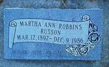 RUSSON, MARTHA ANN - Utah County, Utah | MARTHA ANN RUSSON - Utah Gravestone Photos