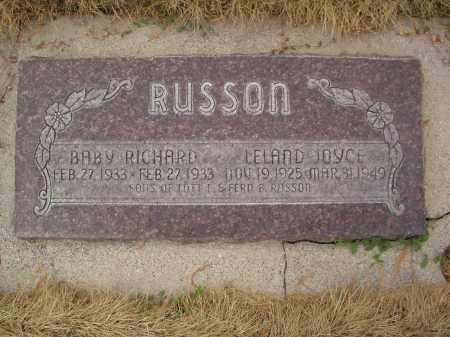 RUSSON, RICHARD - Utah County, Utah | RICHARD RUSSON - Utah Gravestone Photos