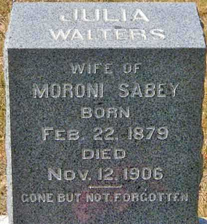 SABEY, JULIA - Utah County, Utah | JULIA SABEY - Utah Gravestone Photos