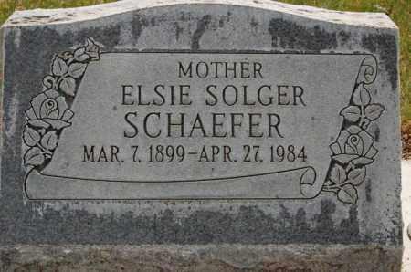 SOLGER SCHAEFER, ELSIE - Utah County, Utah | ELSIE SOLGER SCHAEFER - Utah Gravestone Photos