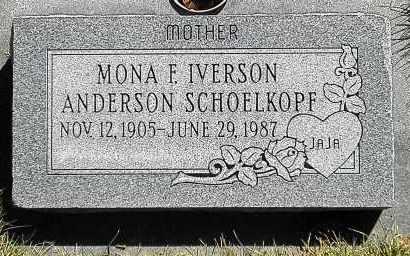 IVERSON, MONA F - Utah County, Utah   MONA F IVERSON - Utah Gravestone Photos