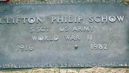 SCHOW (WWII), CLIFTON PHILIP - Utah County, Utah | CLIFTON PHILIP SCHOW (WWII) - Utah Gravestone Photos