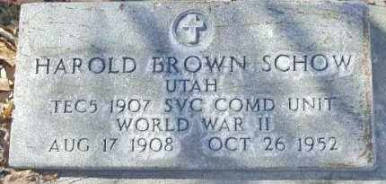 SCHOW (WII), HAROLD BROWN - Utah County, Utah | HAROLD BROWN SCHOW (WII) - Utah Gravestone Photos