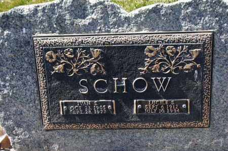 SCHOW, IVAN STANLY - Utah County, Utah | IVAN STANLY SCHOW - Utah Gravestone Photos