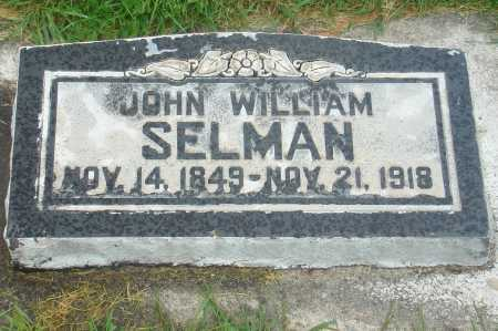 SELMAN, WILLIAM JOHN - Utah County, Utah | WILLIAM JOHN SELMAN - Utah Gravestone Photos
