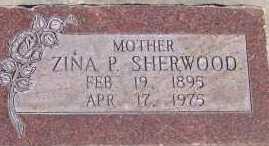 SHERWOOD, ZINA P. - Utah County, Utah | ZINA P. SHERWOOD - Utah Gravestone Photos
