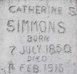SIMMONS, CATHERINE SOPHIA - Utah County, Utah | CATHERINE SOPHIA SIMMONS - Utah Gravestone Photos