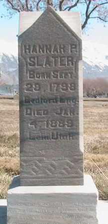 SLATER, HANNAH - Utah County, Utah | HANNAH SLATER - Utah Gravestone Photos