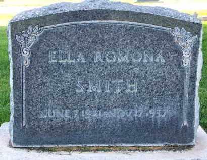SMITH, ELLA ROMONA - Utah County, Utah   ELLA ROMONA SMITH - Utah Gravestone Photos