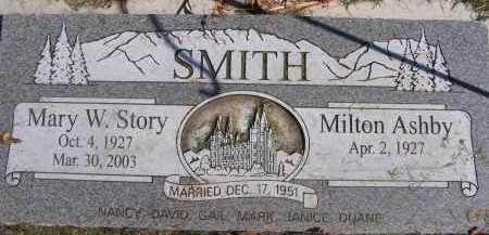SMITH, MARY W - Utah County, Utah   MARY W SMITH - Utah Gravestone Photos