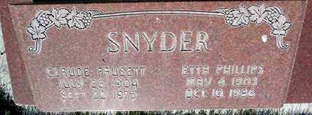 SNYDER, CLAUDE FAUSETT - Utah County, Utah | CLAUDE FAUSETT SNYDER - Utah Gravestone Photos