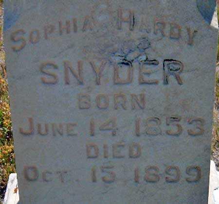 SNYDER, SOPHIA (SOFIA) - Utah County, Utah | SOPHIA (SOFIA) SNYDER - Utah Gravestone Photos
